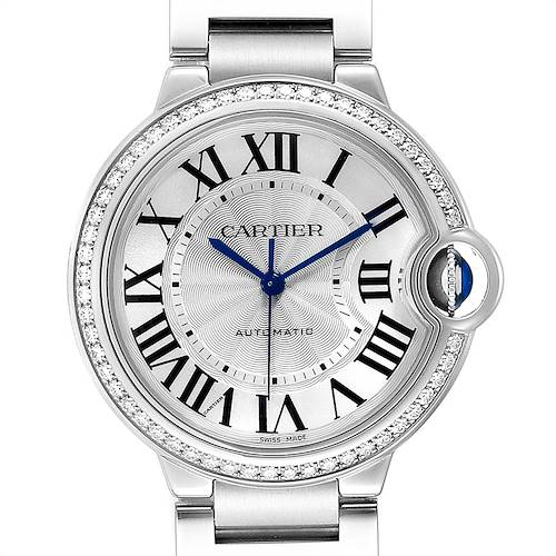 Photo of Cartier Ballon Bleu 36 Midsize Diamond Ladies Watch W4BB0017 Unworn