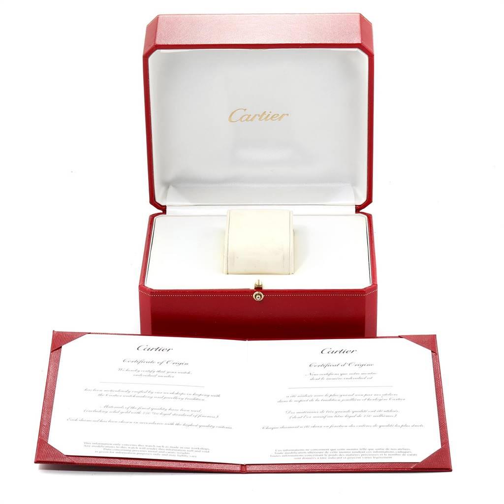 Cartier Cougar 18K Yellow Gold Blue Dial Diamond Unisex Watch 11651 SwissWatchExpo