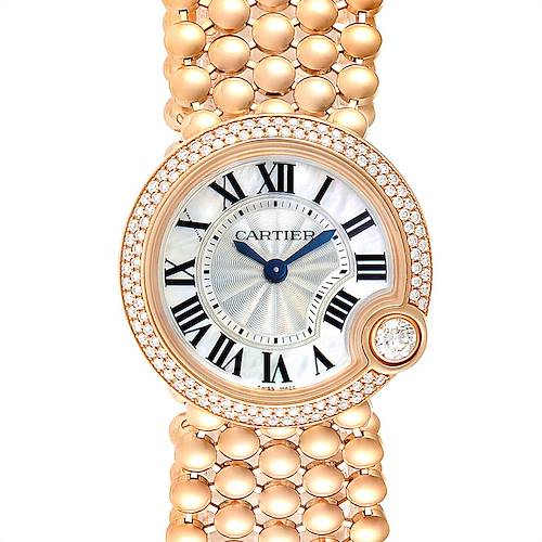 Photo of Cartier Ballon Blanc MOP Rose Gold Diamond Ladies Watch WE902057
