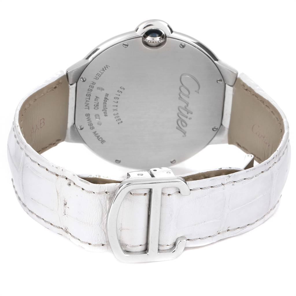 Cartier Ballon Bleu White Gold Diamond Ladies Watch WE902056 SwissWatchExpo