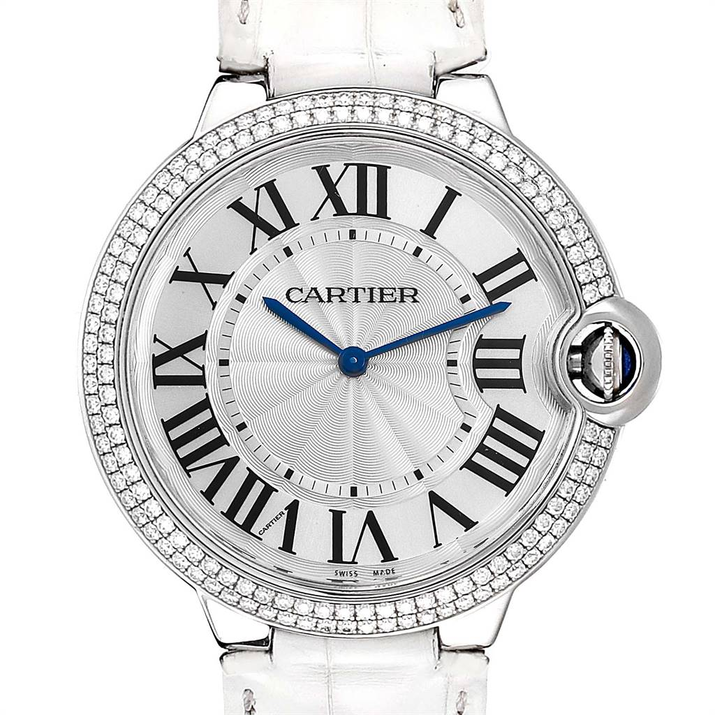 Cartier Ballon Bleu White Gold Diamond Ladies Watch WE902056