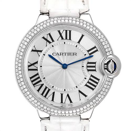 Photo of Cartier Ballon Bleu White Gold Diamond Ladies Watch WE902056