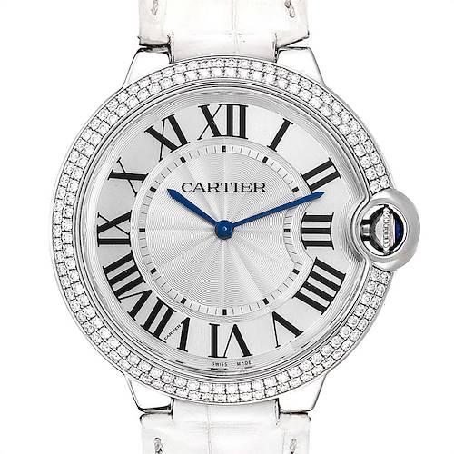 Cartier Ballon Bleu White Gold Diamond Ladies Watch WE902056