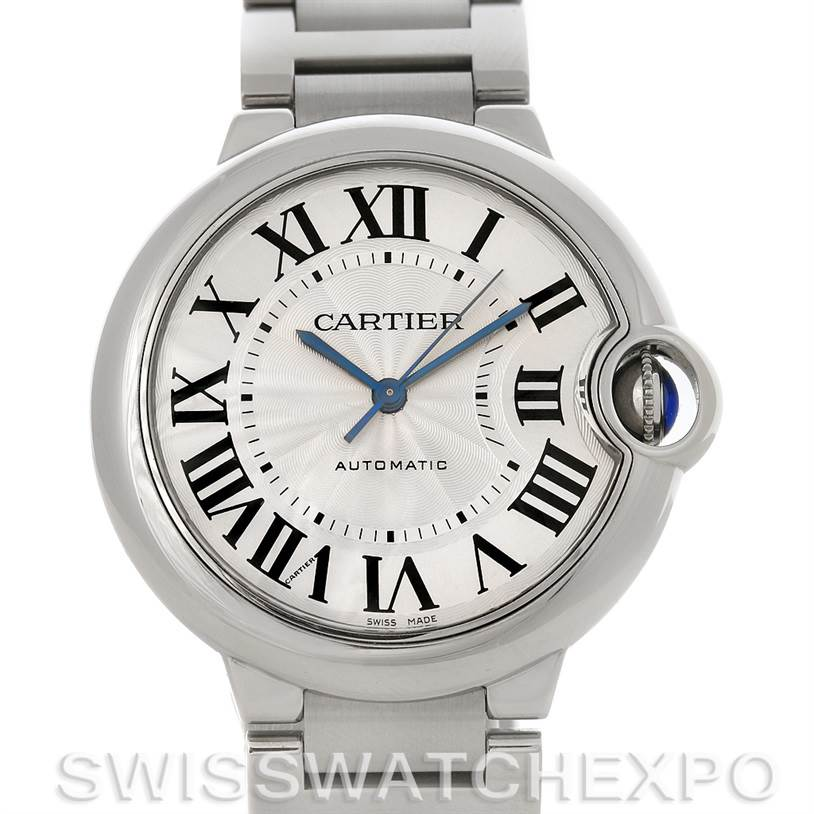 4166 Cartier Ballon Bleu Stainless Steel Midsize Watch W6920046 SwissWatchExpo