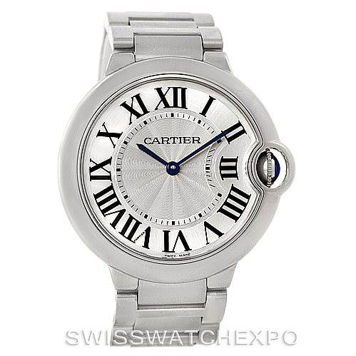 8089 Cartier Ballon Bleu Midsize Steel Watch W69011Z4 SwissWatchExpo