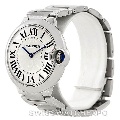 8089 Cartier Ballon Bleu Midsize Steel Watch W69011Z4 SwissWatchExpo