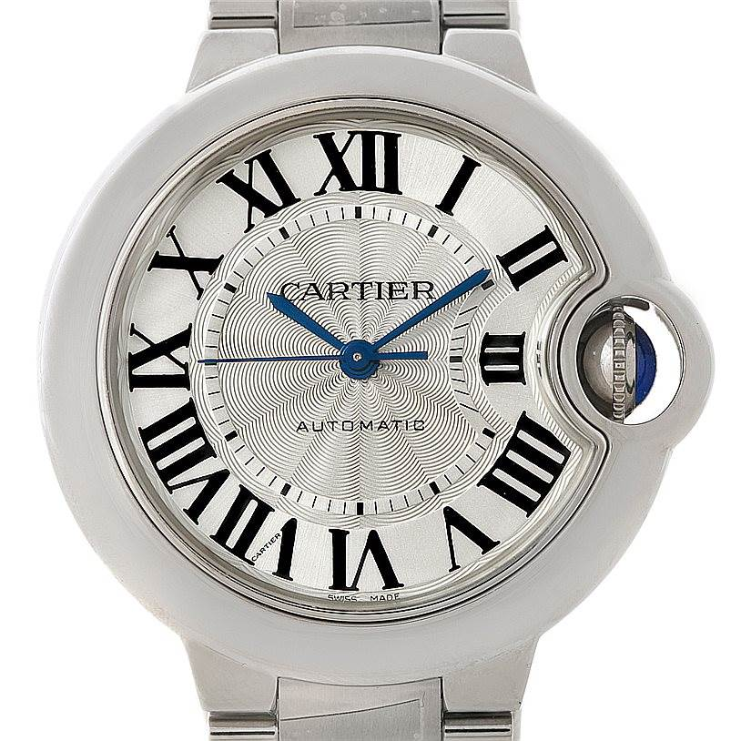 8201 Cartier Ballon Bleu Automatic Midsize Ladies Watch W6920071 Unworn SwissWatchExpo