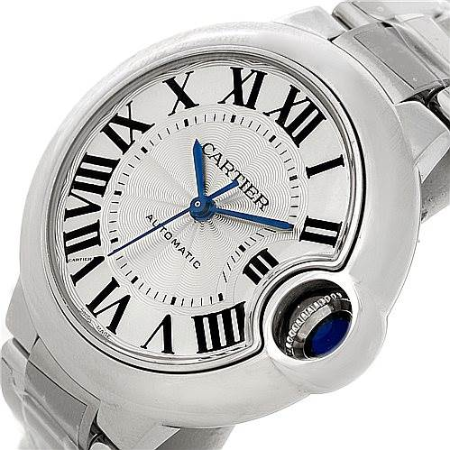 8202 Cartier Ballon Bleu Automatic Midsize Ladies Watch W6920071 Unworn SwissWatchExpo