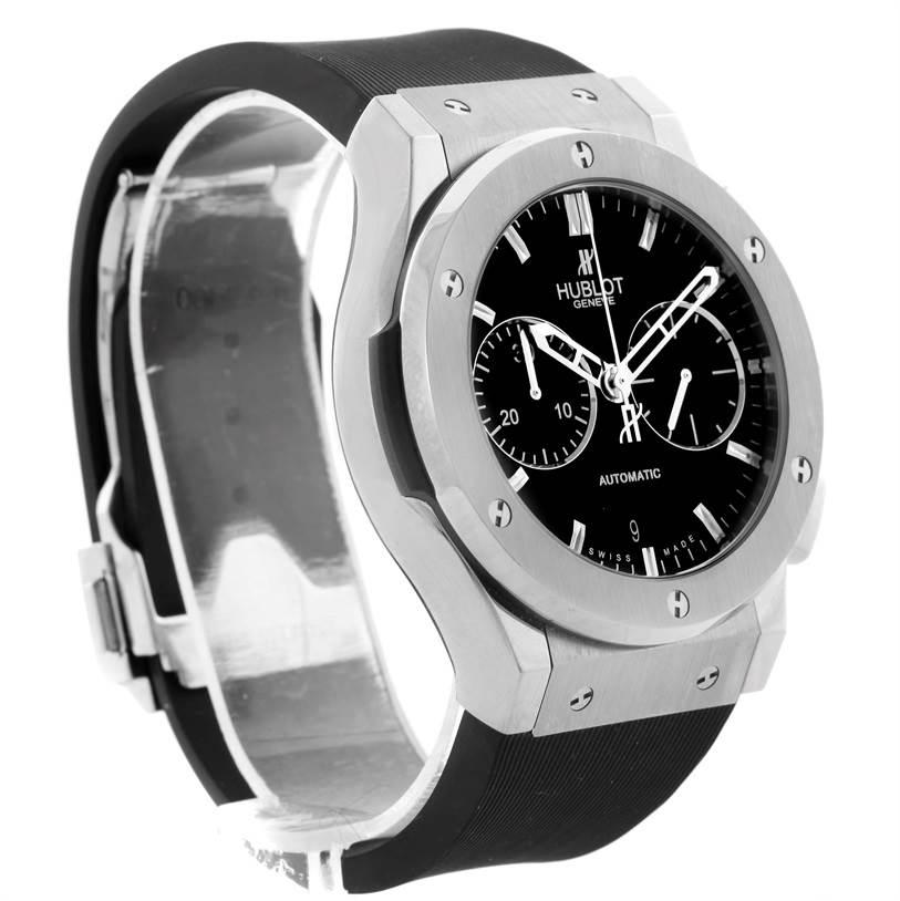 333AB Hublot Classic Fusion Black Dial Rubber Titanium Watch 521.NX.1170.RX SwissWatchExpo