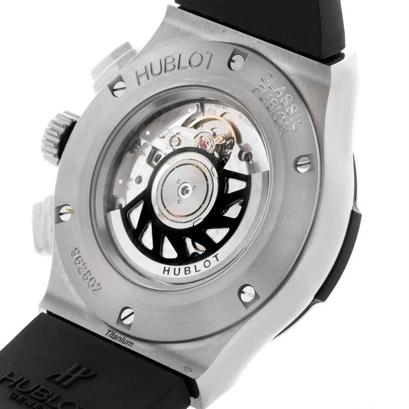 Hublot Classic Fusion Black Dial Rubber Titanium Watch 521.NX.1170.RX SwissWatchExpo
