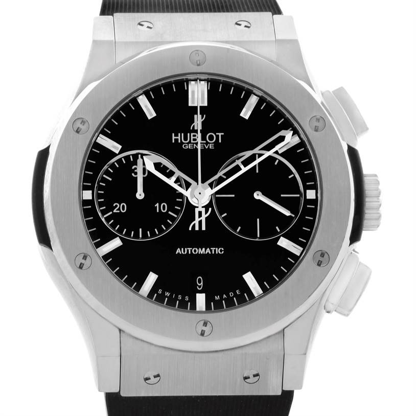 Photo of Hublot Classic Fusion Black Dial Rubber Titanium Watch 521.NX.1170.RX