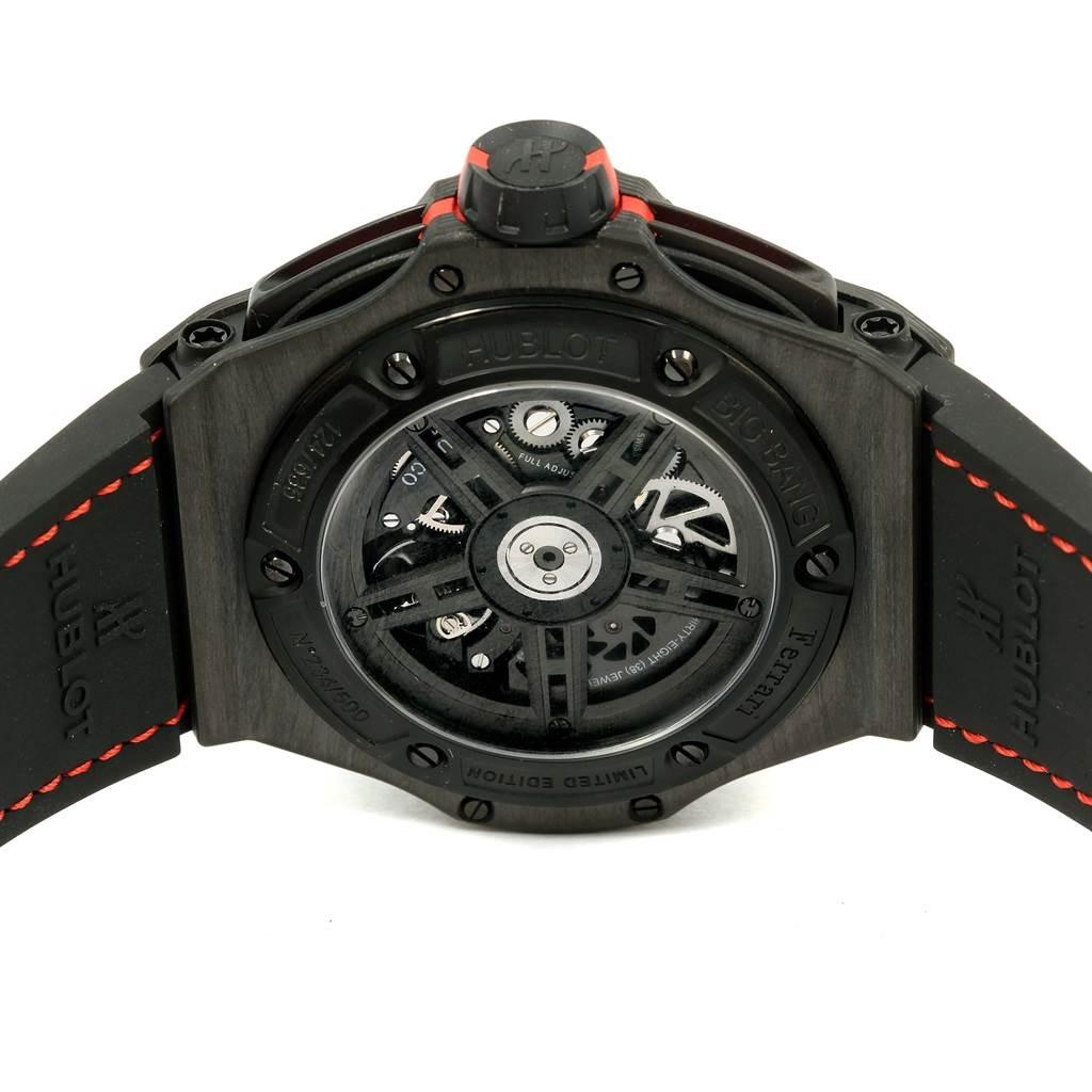 15164 Hublot Ferrari Unico Carbon Limited Edition Mens Watch 402.QU.0113.WR SwissWatchExpo