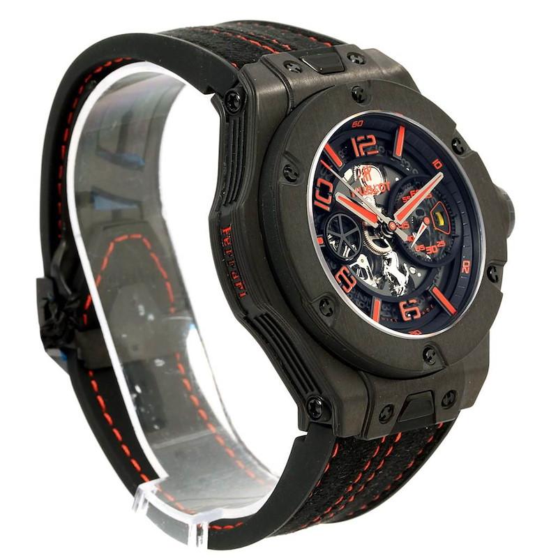 Hublot Ferrari Unico Carbon Limited Edition Mens Watch 402.QU.0113.WR SwissWatchExpo