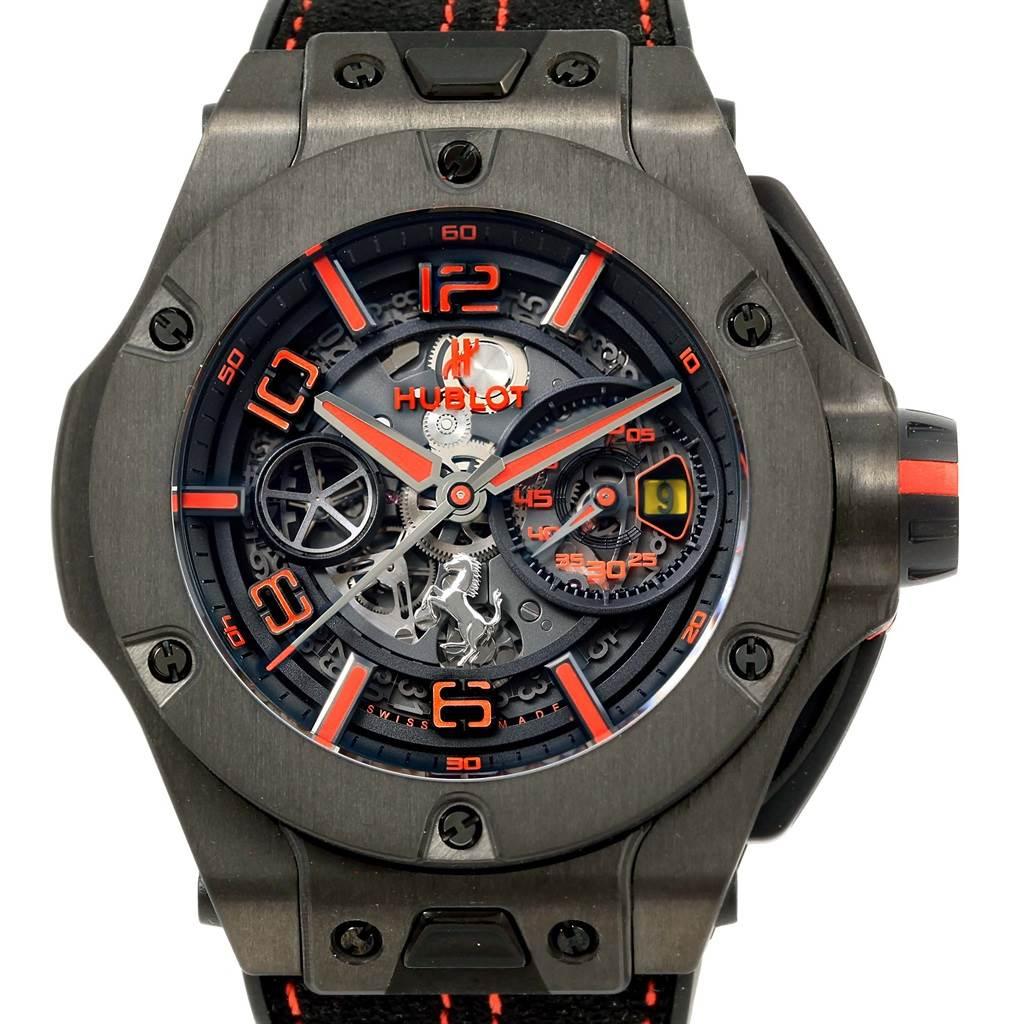 Photo of Hublot Ferrari Unico Carbon Limited Edition Mens Watch 402.QU.0113.WR