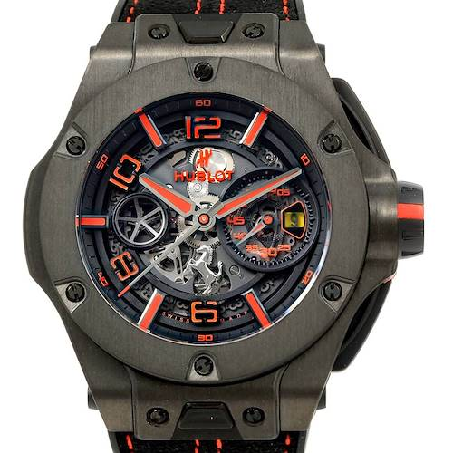 Photo of Hublot Ferrari Unico Carbon Limited Edition Mens Watch 402.QU.0113.WR