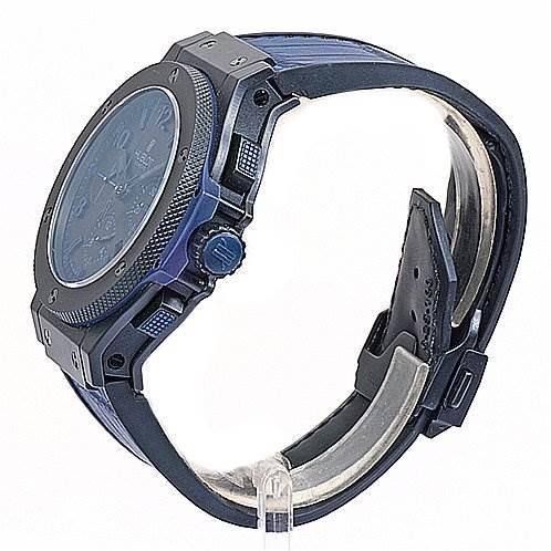 2999GE Hublot Big Bang All Black Blu Limited Eddition 263/500 Watch SwissWatchExpo