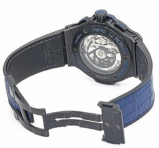 Hublot Big Bang All Black Blu Limited Eddition 263/500 Watch SwissWatchExpo