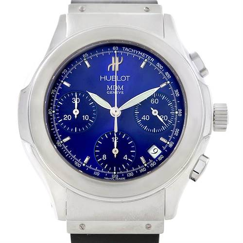 Photo of Hublot Elegance Chronograph Steel Blue Dial Watch 1810.1