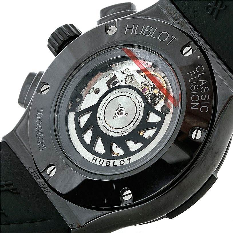 8432P Hublot Classic Fusion Chronograph Black Magic 45mm 521.CM.1770.RX SwissWatchExpo