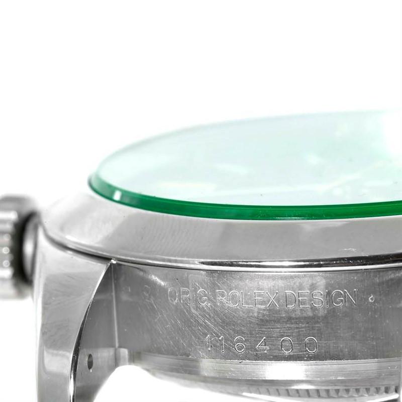 Rolex Milgauss Black Dial Green Crystal Mens Watch 116400V SwissWatchExpo
