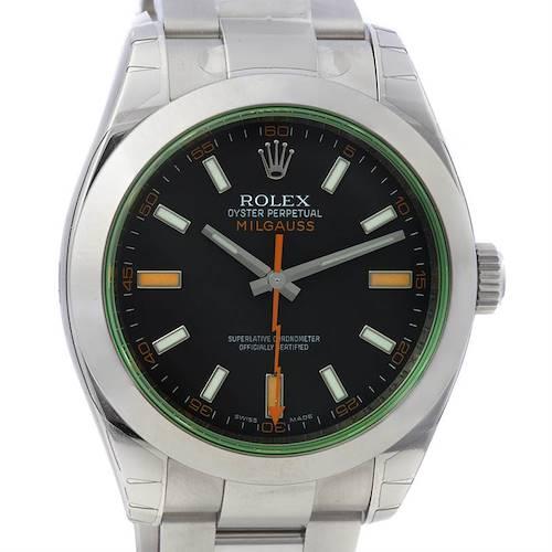 Photo of Rolex Milgauss Green Crystal 116400v Year 2010 - Unworn