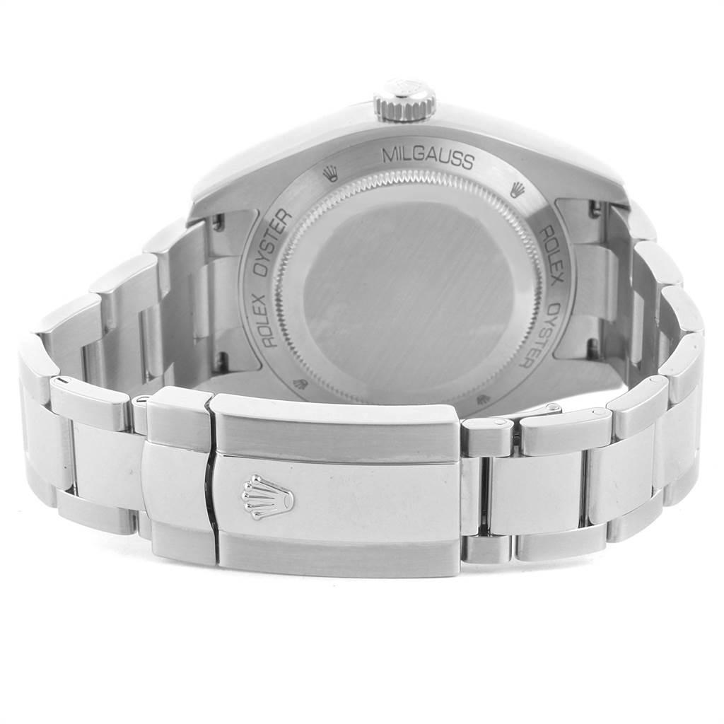 Rolex Milgauss Black Dial Green Crystal Mens Watch 116400V Box Card SwissWatchExpo