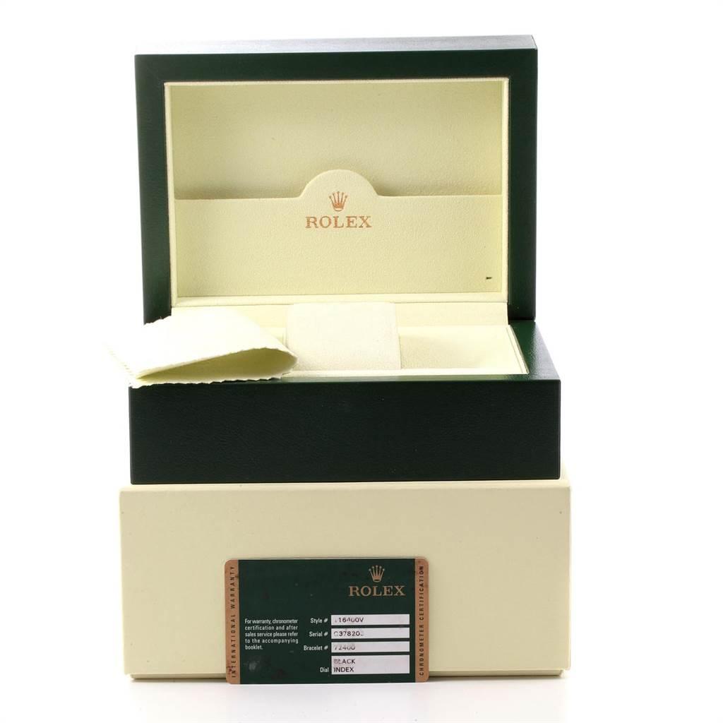 Rolex Milgauss Green Crystal Steel Mens Watch 116400V Box Card SwissWatchExpo
