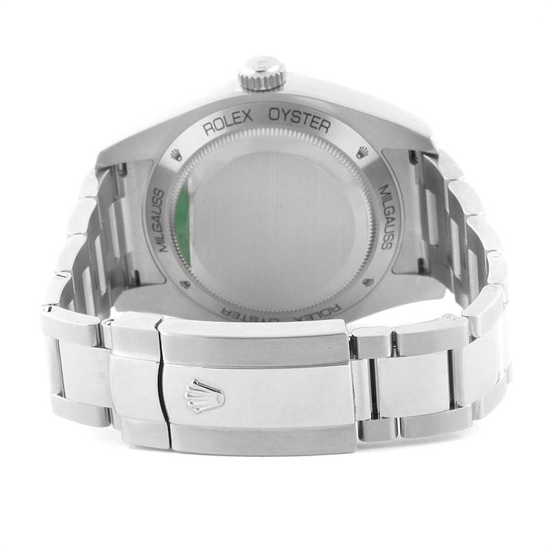 Rolex Milgauss Blue Dial Green Crystal Mens Watch 116400GV Box Card SwissWatchExpo