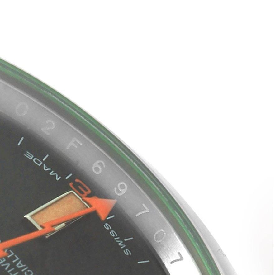 Rolex Milgauss Black Dial Green Domed Bezel Crystal Mens Watch 116400V SwissWatchExpo
