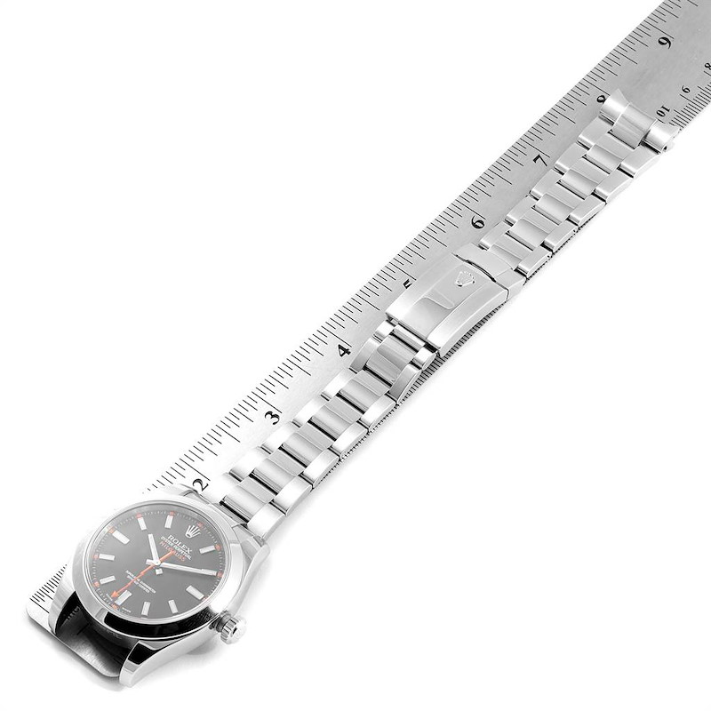 Rolex Milgauss Black Dial Domed Bezel Steel Mens Watch 116400 SwissWatchExpo
