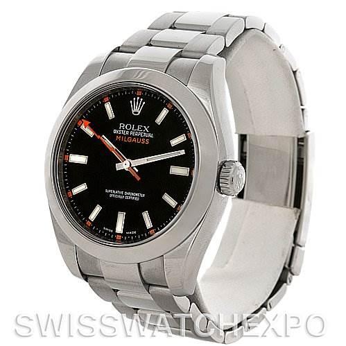 Rolex Milgauss Steel Men's Sport Watch 116400BKSO SwissWatchExpo
