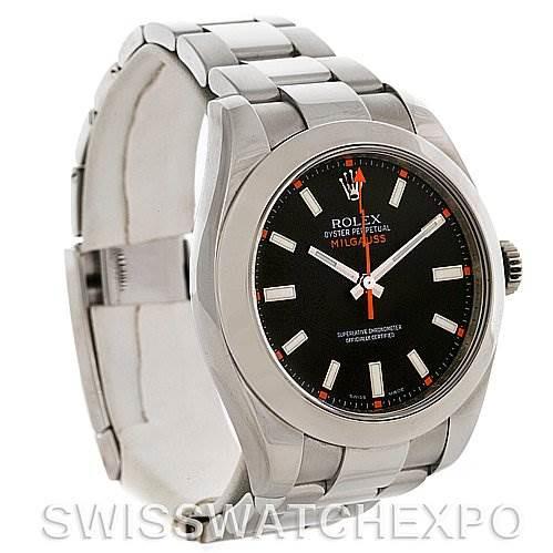 Rolex Milgauss Steel Men's Sport Black Dial Watch SwissWatchExpo