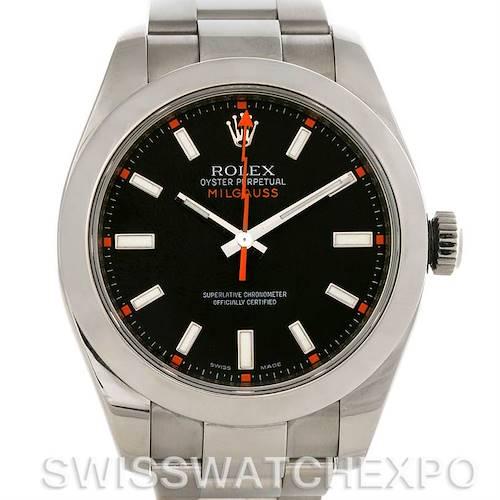 Photo of Rolex Milgauss Steel Men's Sport Black Dial Watch