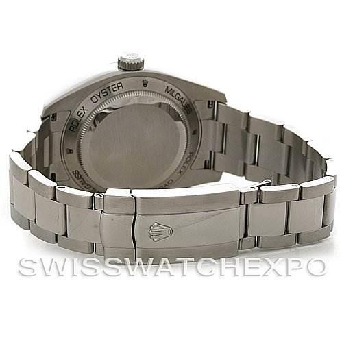 Rolex Milgauss Black Dial Domed Bezel Green Crystal Oyster Bracelet 116400V SwissWatchExpo