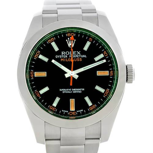 Photo of Rolex Milgauss Green Crystal Watch 116400V