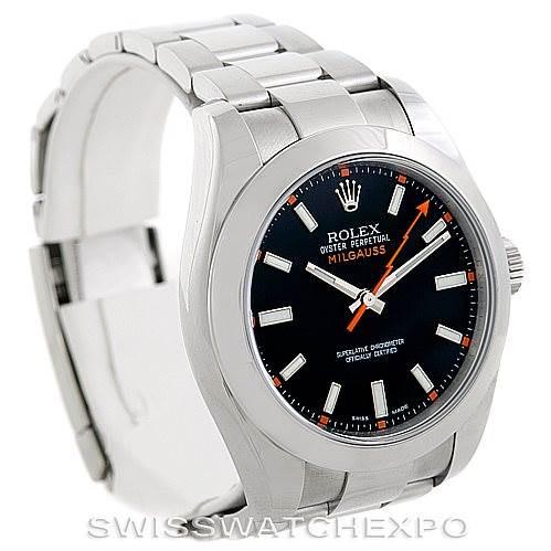 Rolex Milgauss Stainless Steel Mens Watch 116400 SwissWatchExpo