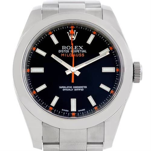 Photo of Rolex Milgauss Stainless Steel Mens Watch 116400