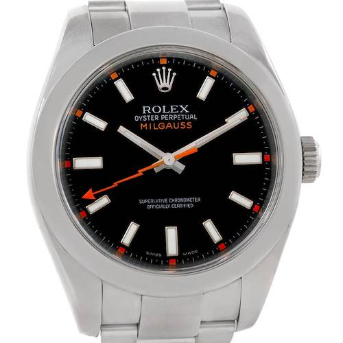 Photo of Rolex Milgauss Stainless Steel Black Dial Mens Watch 116400