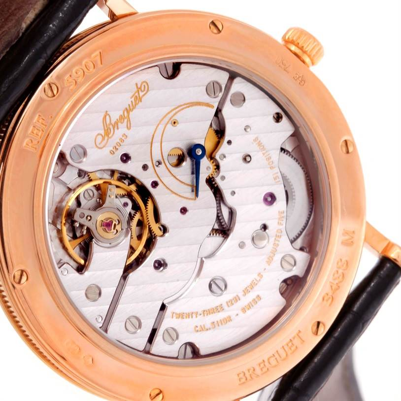 10149P Breguet Classique 18K Rose Gold Mechanical Mens Watch 5907br/12/984 SwissWatchExpo