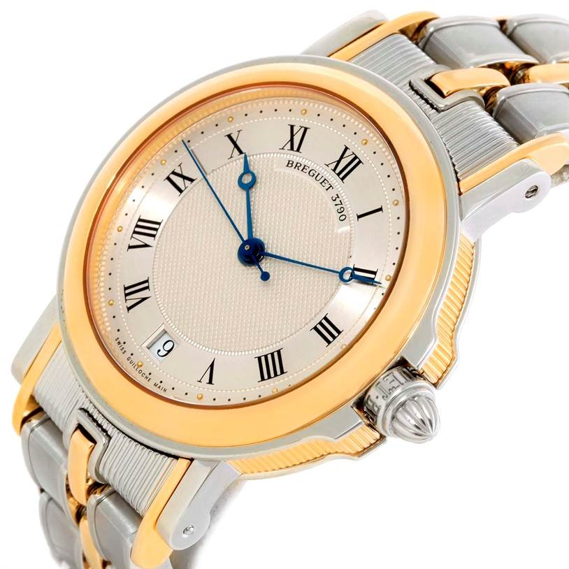10158 Breguet Marine Steel 18K Yellow Gold Automatic Watch 3400SA/12/X90 SwissWatchExpo