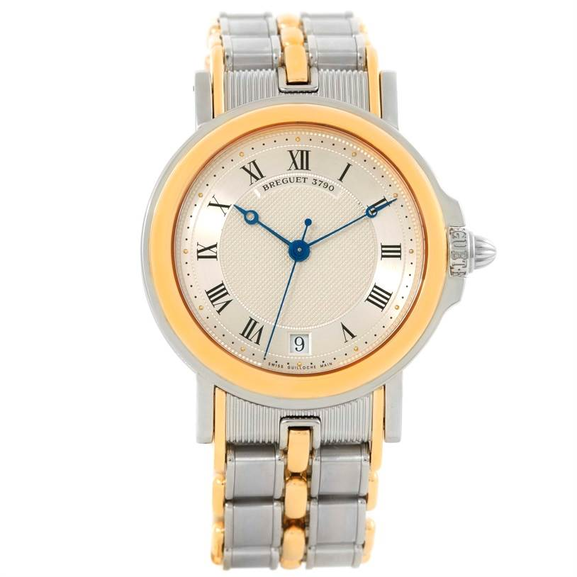 Breguet Marine Steel 18K Yellow Gold Automatic Watch 3400SA/12/X90 SwissWatchExpo