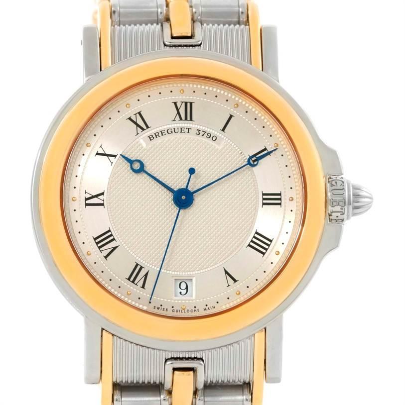 Breguet Marine Steel 18K Yellow Gold Automatic Watch 3400SA/12/X90 SwissWatchExpo