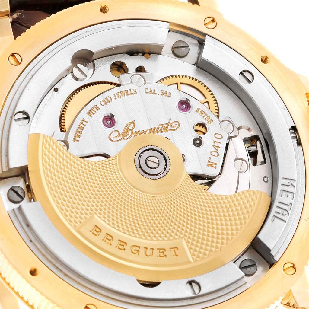 10645A Breguet Marine Hora Mundi 24 World Time Zones Yellow Gold Watch 3700 SwissWatchExpo