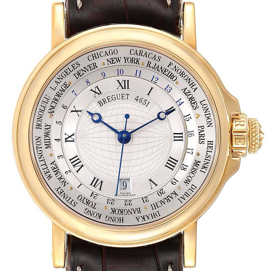 Breguet Marine Hora Mundi  WorldTime Yellow Gold Mens Watch 3700 SwissWatchExpo