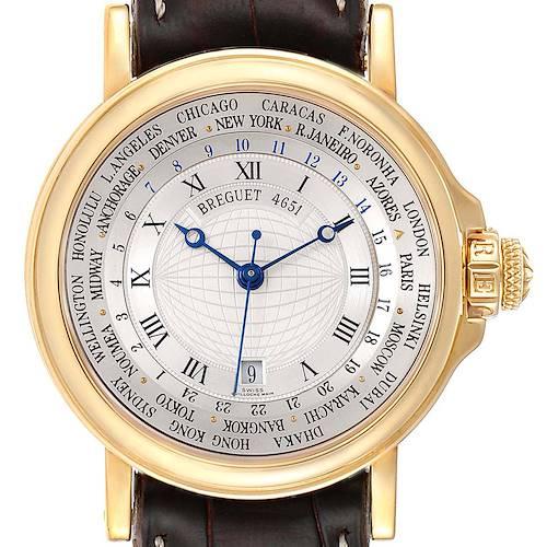 Photo of Breguet Marine Hora Mundi  WorldTime Yellow Gold Mens Watch 3700