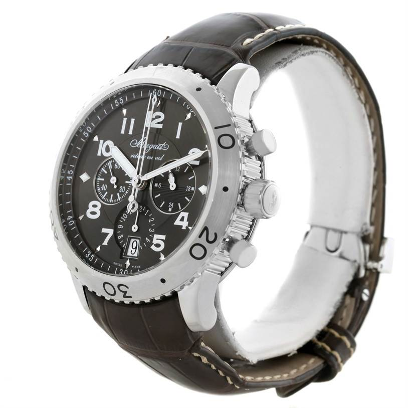 11633 Breguet Transatlantique Type XXI Flyback Ruthenium Dial Watch 3810ST/92/9ZU SwissWatchExpo