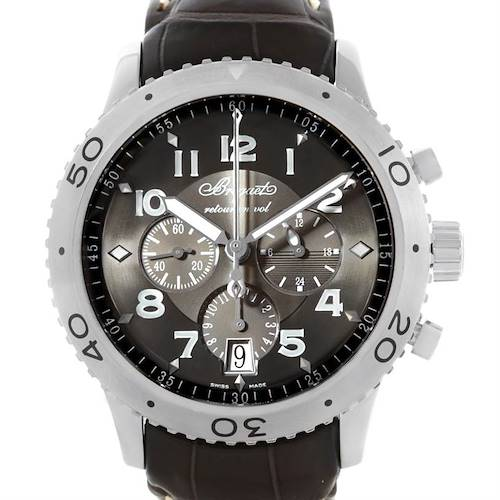 Photo of Breguet Transatlantique Type XXI Flyback Ruthenium Dial Watch 3810ST/92/9ZU