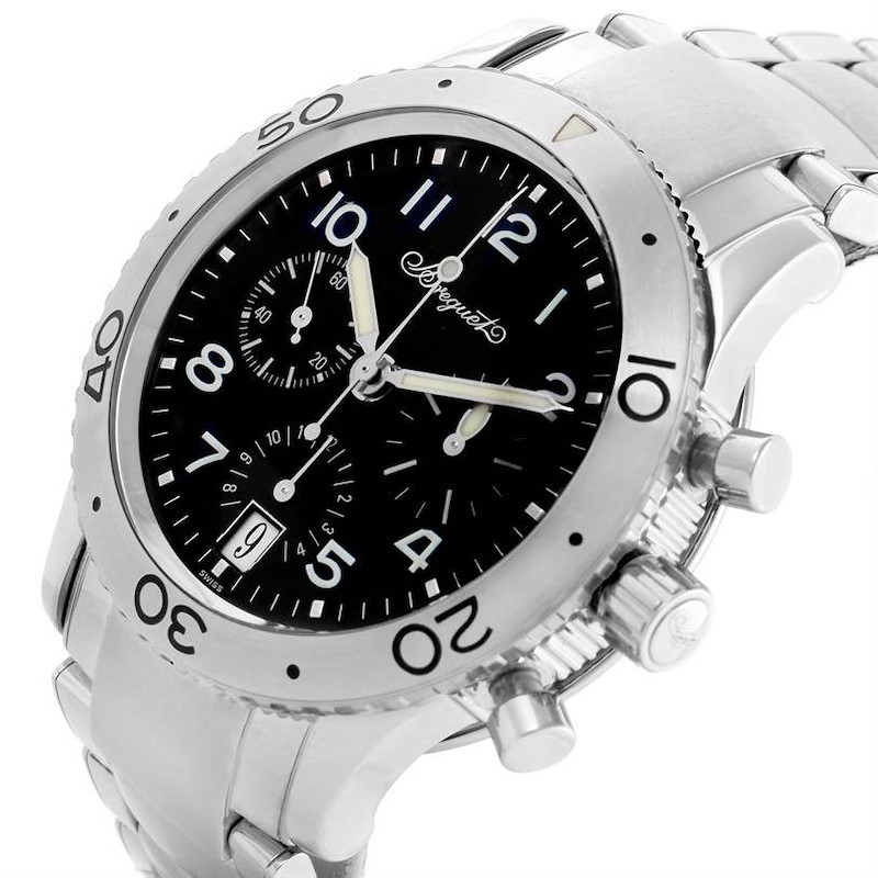 Breguet Transatlantique Type XX Flyback Watch 3820ST/H2/SW9 Box Papers SwissWatchExpo