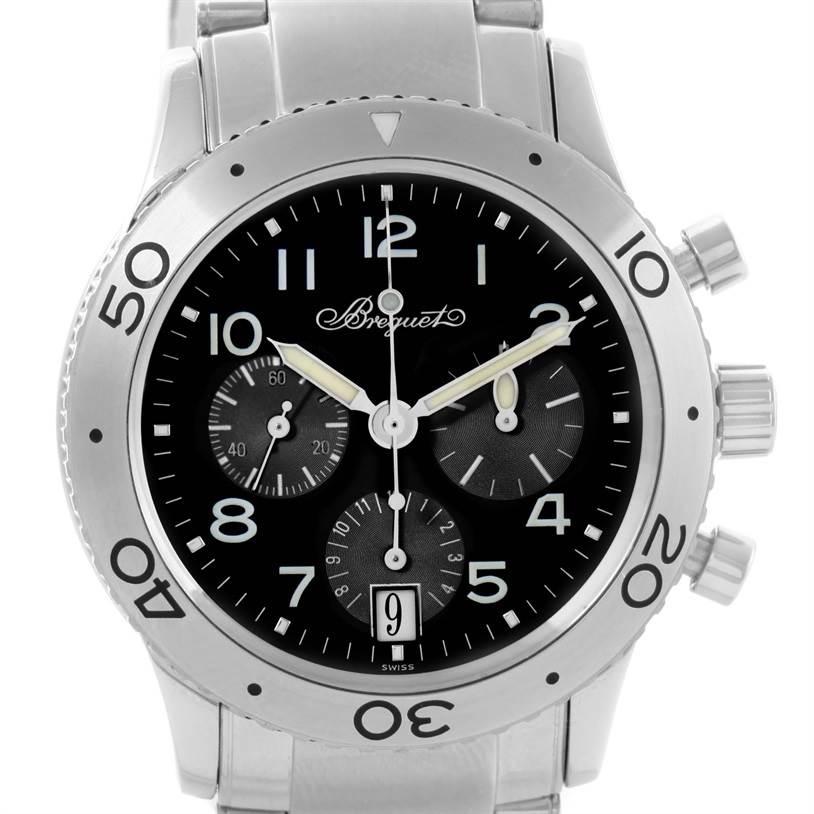 Breguet Transatlantique Type XX Flyback Watch 3820ST/H2/SW9 Box Papers SwissWatchExpo
