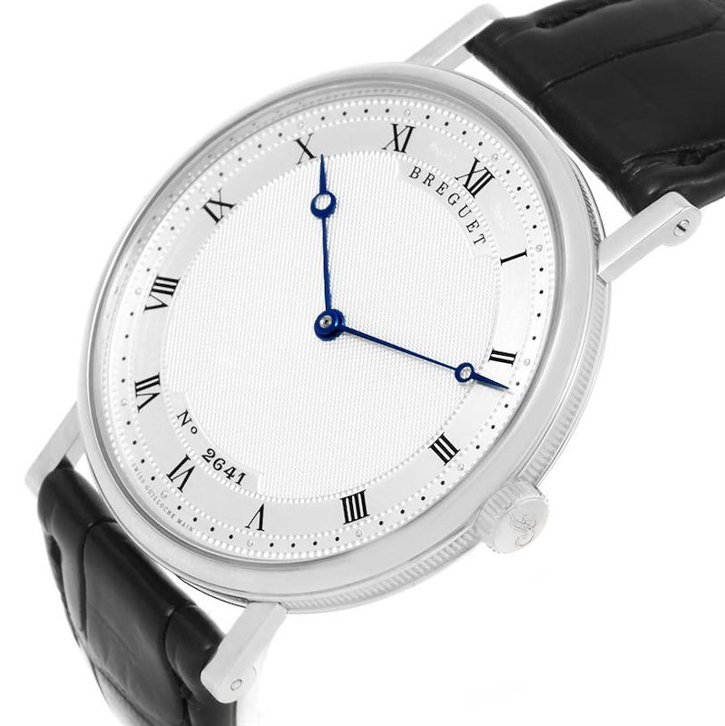 Breguet Classique 18K White Gold Ultra Thin Watch 5157 Box Papers SwissWatchExpo